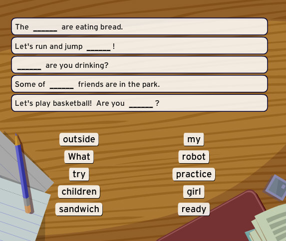 BrainPOP ESL - Fill In The Blank game